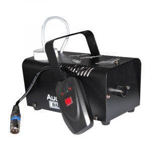 Máquina de humo Baby Fog AudioPro 400W, capacidad de 0.8L y 4m de alcance.