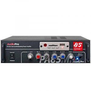 Amplificador modular PA85MP3 AudioPro 85 WRMS, EQ 2 bandas, modulo mp3, usb