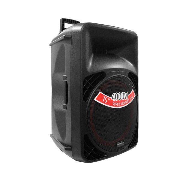 """Cabina activa de 15"""" PRO2000BT AudioPro de 12"""" con modulo mp3 y 600 WRMS."""
