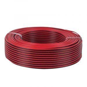 Rollo de cable polarizado 2x12 AudioPro Rojo/Negro de 100m