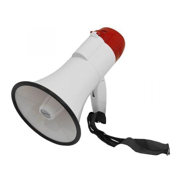 Megáfono recargable AP1001USB AudioPro 30WRMS con sirena y modulo mp3