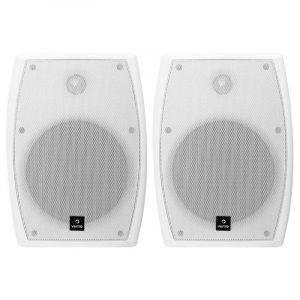 """Bafles ambientales DK5 Vento de 5"""" blancos con transformador y soportes"""