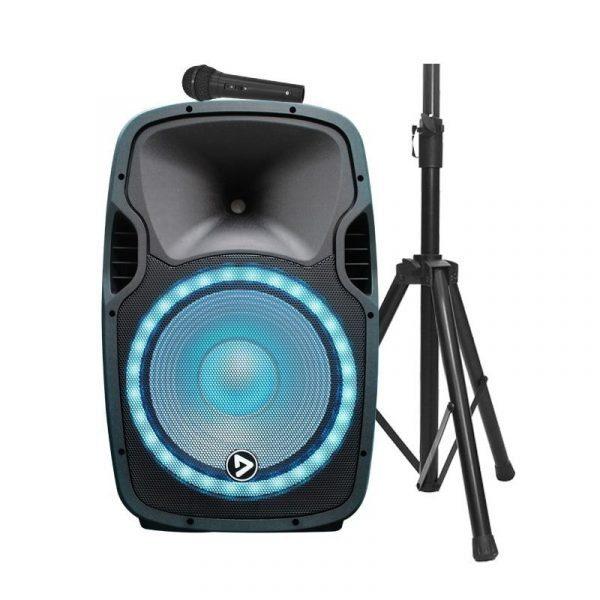 "Cabina activa ElectroParty con base y micrófono 15"" Audioritmica PlayPro con modulo mp3"