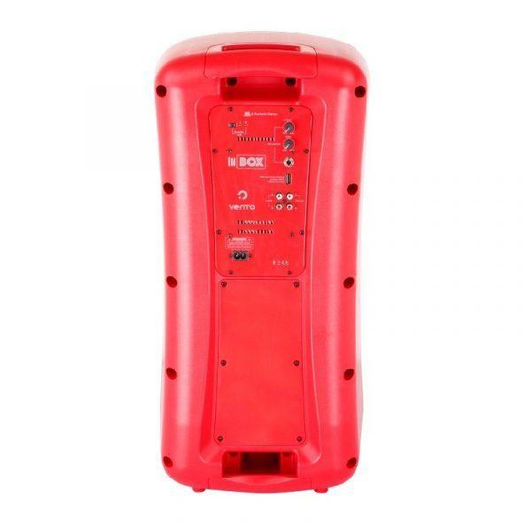 Bafle activo Inbox Vento rojo audioritmica con modulo mp3