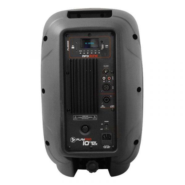 """Cabina activa PL1600X PlayPro de 10"""", con modulo mp3, amplificador clase AB y 200 WRMS"""