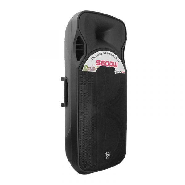 """Cabina activa PRO5600X PlayPro doble de 15"""" modulo mp3, amplificador clase H y 500WRMS"""