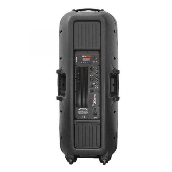 """Cabina activa PRO5600X PlayPro doble de 15"""" modulo mp3 y 500WRMS"""