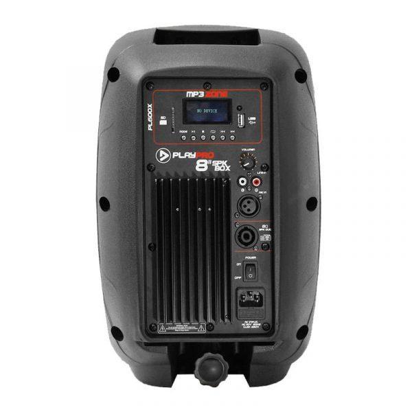 """Cabina activa PL600X PlayPro de 8"""", con modulo mp3, amplificador clase AB y 120 WRMS"""