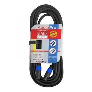 Extensión de cable de audio profesional Stage10.4SPK AudioPro de 10m y 4 hilos conector speakon de seguridad