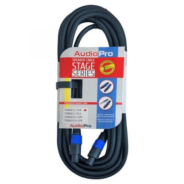 Extensión de cable de audio profesional Stage5.2SPK AudioPro de 5m y 2 hilos conector speakon de seguridad