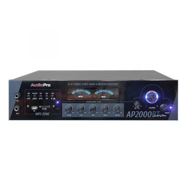 Amplificador modular estéreo AP2000BT AudioPro con modulo mp3, EQ 2 bandas, 310WRMS