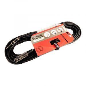 Extensión de cable de audio profesional Work15mix Vento de 15m para instrumentos XLR/Canon balanceado a Plug/Jack 1/4
