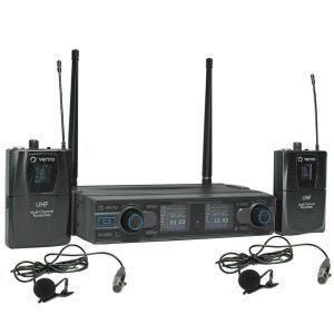 Micrófono Inalámbrico de corbata Lavalier2 de pinza para los Emisores UHF Bodypack4 Vento para Receptor UHF Vento WM332 Receiver