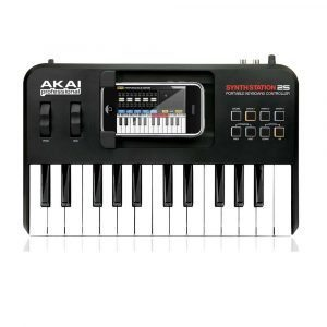 Teclado AKAI SynthStation 25 profesional 25-Key sintetizador con driver para iPhone y iPod Touch
