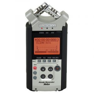 Grabadora de audio portátil Zoom H4 profesional 4 canales con preamplificadores, monitoreo y grabación técnicas surround
