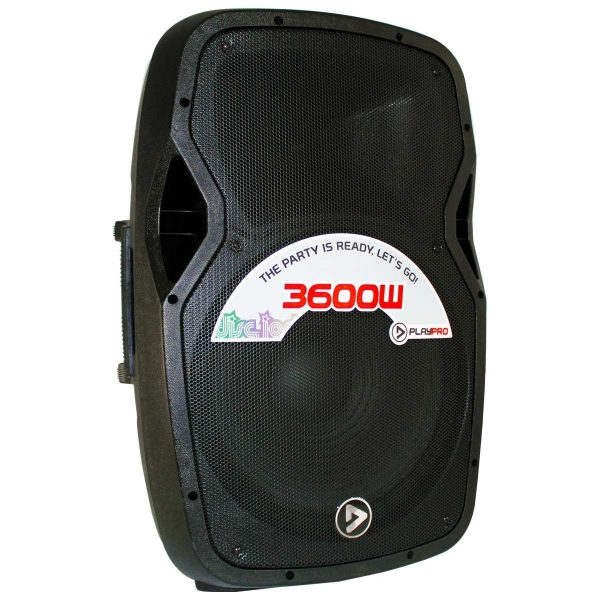"Bafle Activo Plástico de 15"" Bluetooth PlayPro PL3600X-V2 con tripode cabina 3600w 350W"