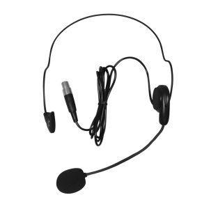 Micrófono de diadema color negro Heatset1 para el Emisor UHF Bodypack4 Vento para Receptor UHF Vento WM332 Receiver