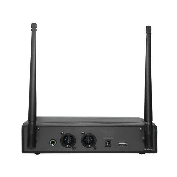 Receptor estéreo UHF Vento WM332 Receiver negro con sistema diversity 2 canales