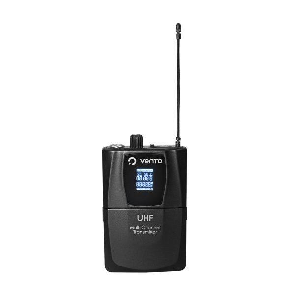 Emisor UHF Bodypack4 Vento transmisor multi canal para Receptor UHF Vento WM332 Receiver