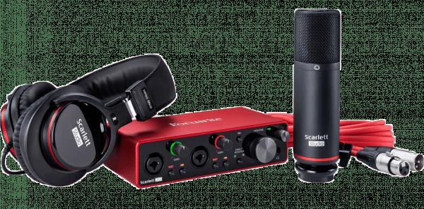 Kit Scarlett Studio 3ra Generación para grabar tu música con la mejor calidad