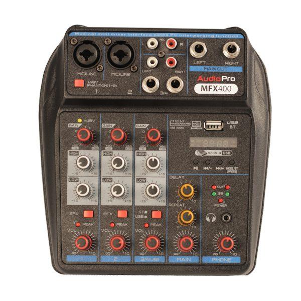 Consola Pasiva De 4 Canales MFX400 USB AUDIOPRO