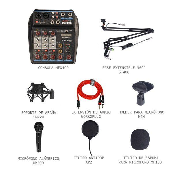Combo Kit de Studio de Grabación Sonomarcas
